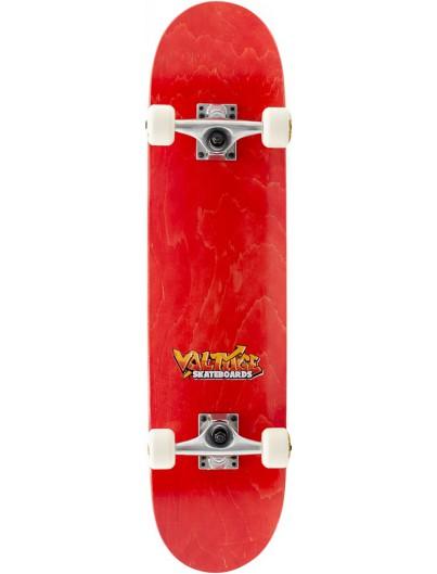 Voltage Logo 7.5 Skateboard Rood