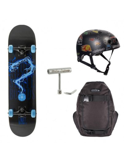 Skateboard Pack Enuff Pyro Blauw