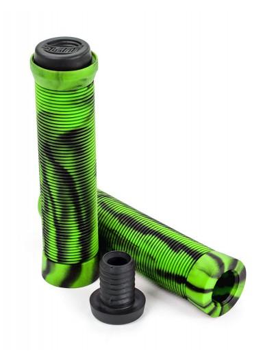Slamm Pro Bar Grips Swirl Groen