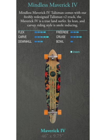 Mindless Maverick IV Talisman Pintail Longboard
