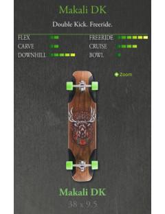 Longboard Mindless Voodoo Makali Groen Double Kick