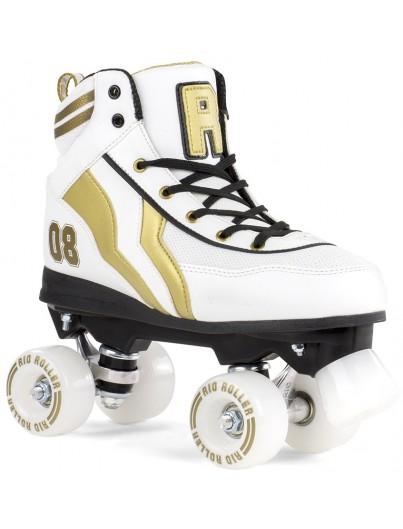 Rio Roller Varsity Rolschaatsen Wit-Goud