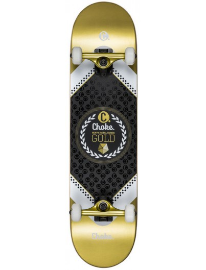 Choke Heavy Metal 8.0 Skateboard Gold
