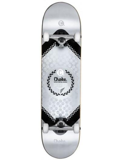 Choke Heavy Metal 8.0 Skateboard Silver