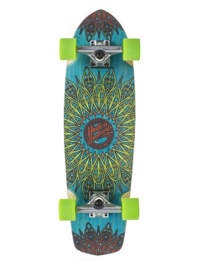 Mindless Mandala 28.0 Cruiser Skateboard Blue