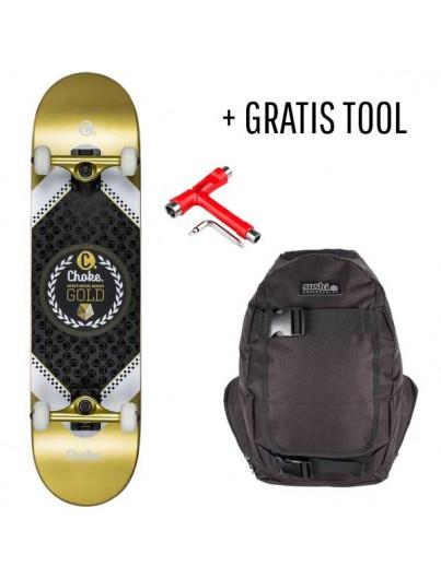 Choke Skateboard Pack Gold + GRATIS Tool