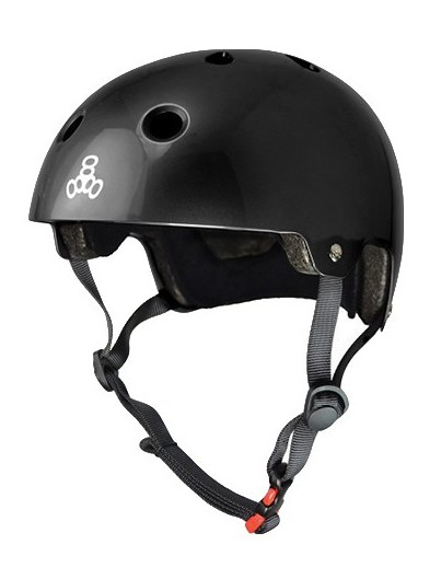 Triple Eight Dual Certified Helm Gloss Zwart