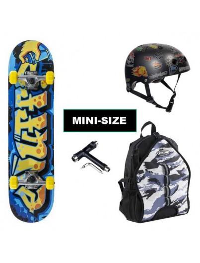 Skateboard Pack Enuff Graffiti Blauw-Geel