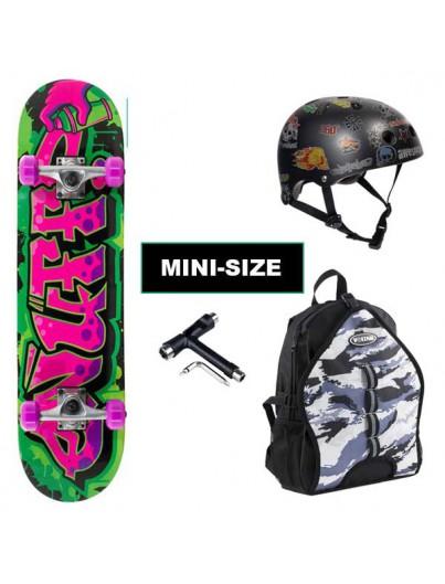 Skateboard Pack Enuff Graffiti Paars-Groen