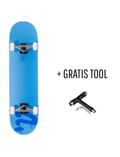 Enuff Logo Blauw 7.75 Skateboard + GRATIS Tool