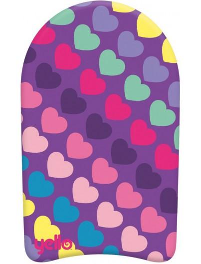 Yello Hearts 19'' Kickboard
