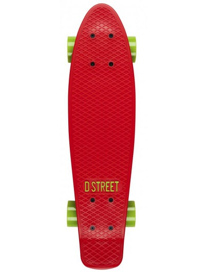 D-Street 23'' Penny Board Red-Green