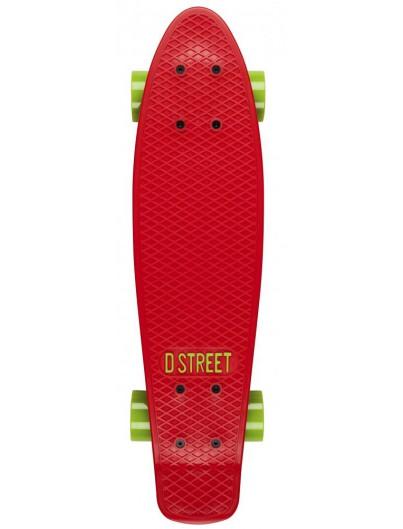 D-Street 23'' Penny Board Red-Green