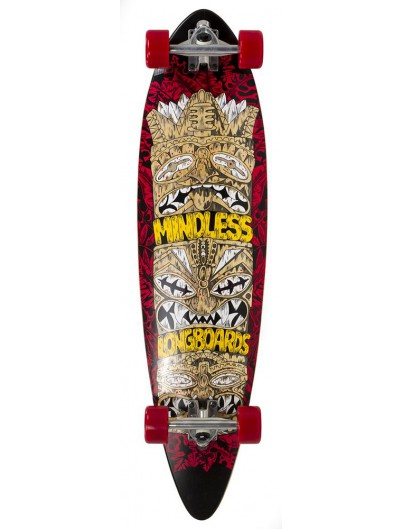 Mindless Tribal Rogue IV 38'' Pintail Longboard Rood