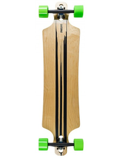 Saterno Dropthrough Longboard Brush Stroke 39.5''