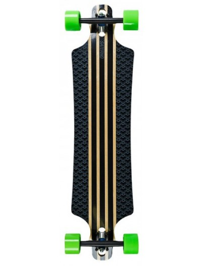 Saterno Dropthrough Longboard Clouded Pattern 39.5''