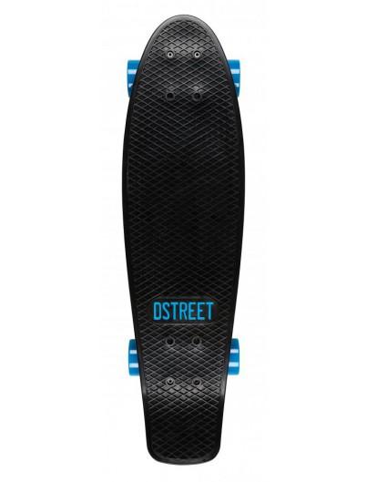 D-Street 27'' Penny Board Black-Blue