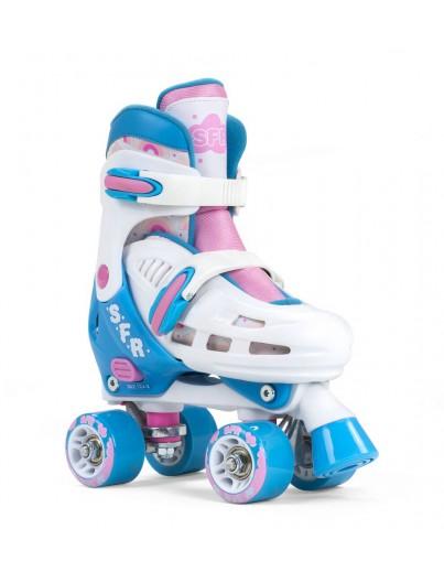 SFR Verstelbare Rolschaatsen Storm III White-Pink