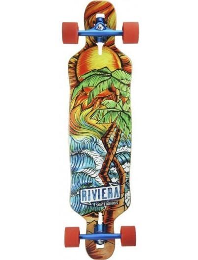 Riviera Twisted Palms 40'' Dropthrough Longboard