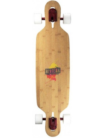 Riviera Twisted Palms 40'' Dropthrough Longboard