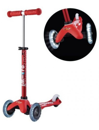 Micro Mini Deluxe Kinderstep LED Red