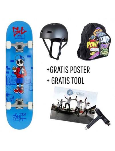Skate Deal Skully Blue 4 t/m 7 Jaar