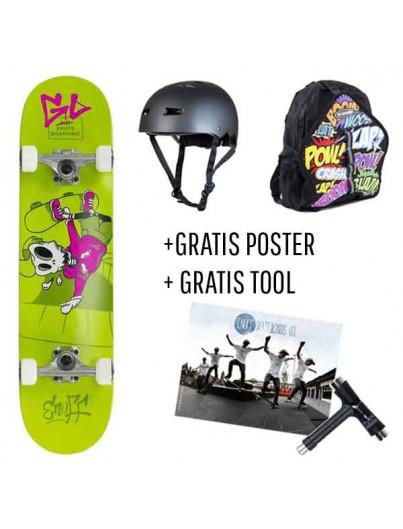 Skate Deal Skully Green 4 t/m 7 Jaar