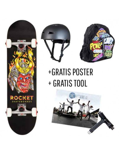 Skate Deal Rocket Samurail 4 t/m 7 Jaar