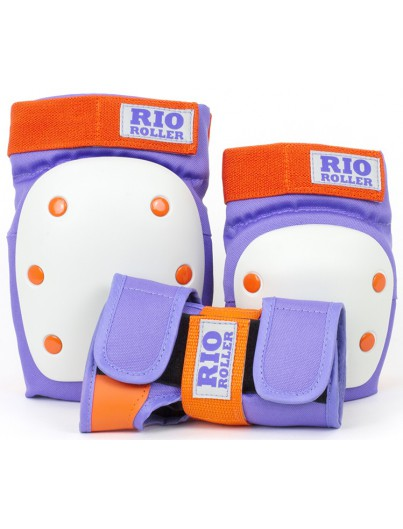 Rio Roller 3-Pack Bescherming Paars-Oranje
