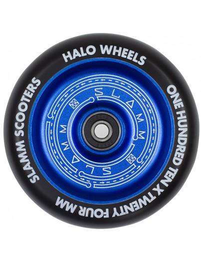 Slamm 110mm Halo Deep Dish Stuntstep Wiel Blauw