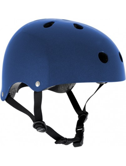 Skatehelm metallook blauw Essentials
