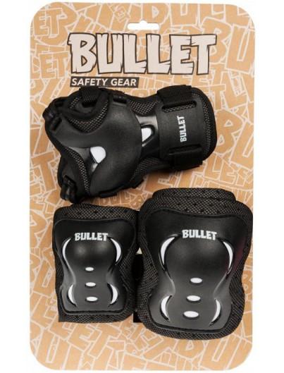 Bullet skate beschermset Jr. Blast zwart