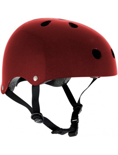 Skatehelm rood metal Essentials