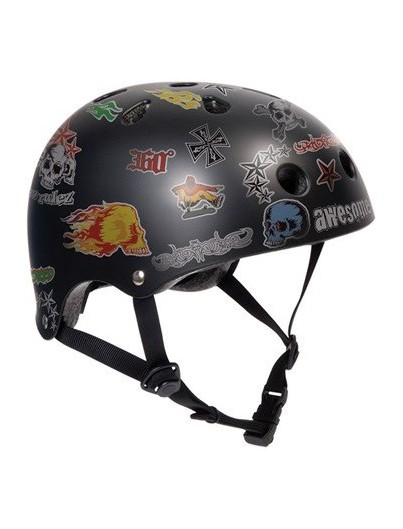 Skatehelm SFR Essentials Sticker Zwart