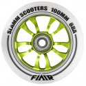 Slamm Flair 100mm Stuntstep Wiel Wit-Groen