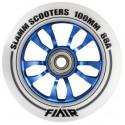Slamm Flair 100mm Stuntstep Wiel Wit-Blauw