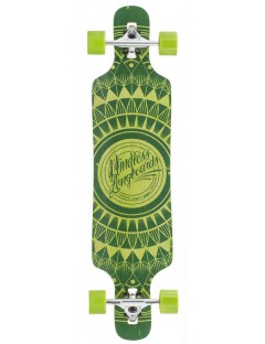 Mindless Sanke II 39'' Droptrhough Longboard Green