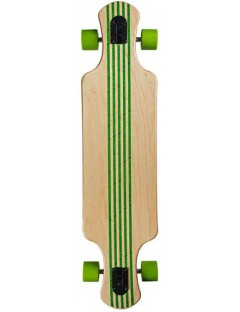 Saterno Forest Leaf Double Down Light 37'' Longboard
