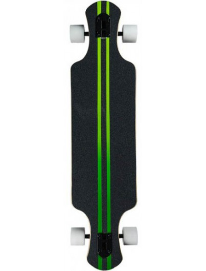 Saterno Forest Leaf Double Down Dark 37'' Longboard