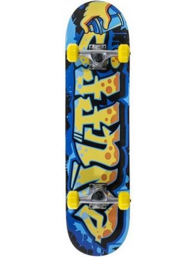 Enuff Graffiti 7.75 Skateboard Geel-Blauw