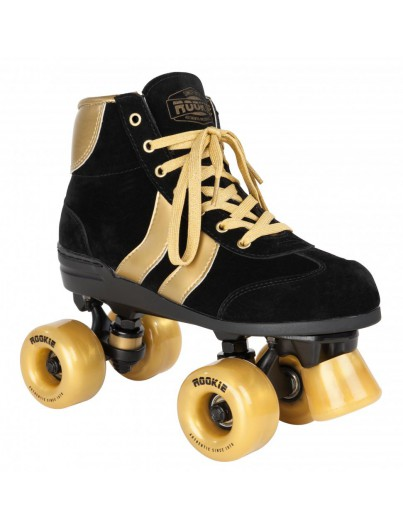 Authentic Rookie Rollerskates Black/Gold