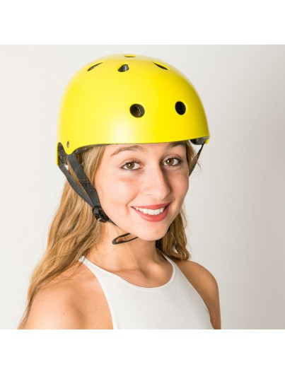 Skatehelm geel Essentials