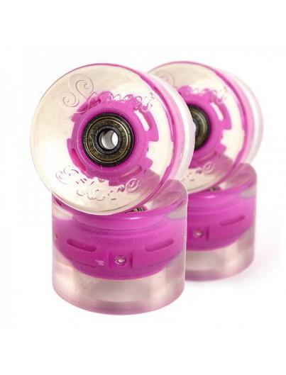 Sunset LED Cruiser Wielen Roze 59mm