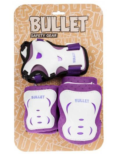 Bullet beschermset Jr. Blast Paars/Wit