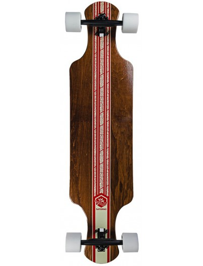 Saterno Red Leaf Double Down Dark 37'' Longboard