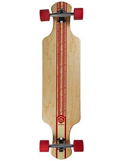 Saterno Red Leaf Double Down Light 37'' Longboard
