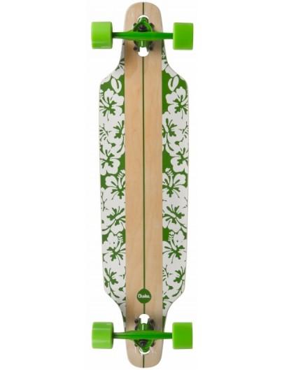 Choke Flower White DT 37.5 Longboard Complete