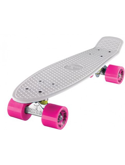 Ridge 22'' Penny Board Wit-Roze