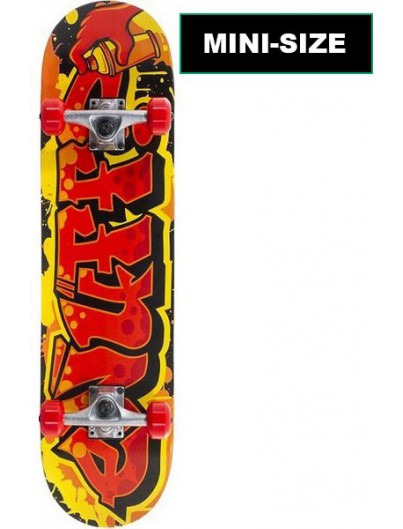 Enuff Graffiti 7.25 Mini Skateboard Rood-Geel