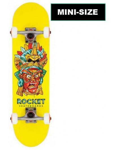Rocket Mask Aztec 7.375 Mini Skateboard